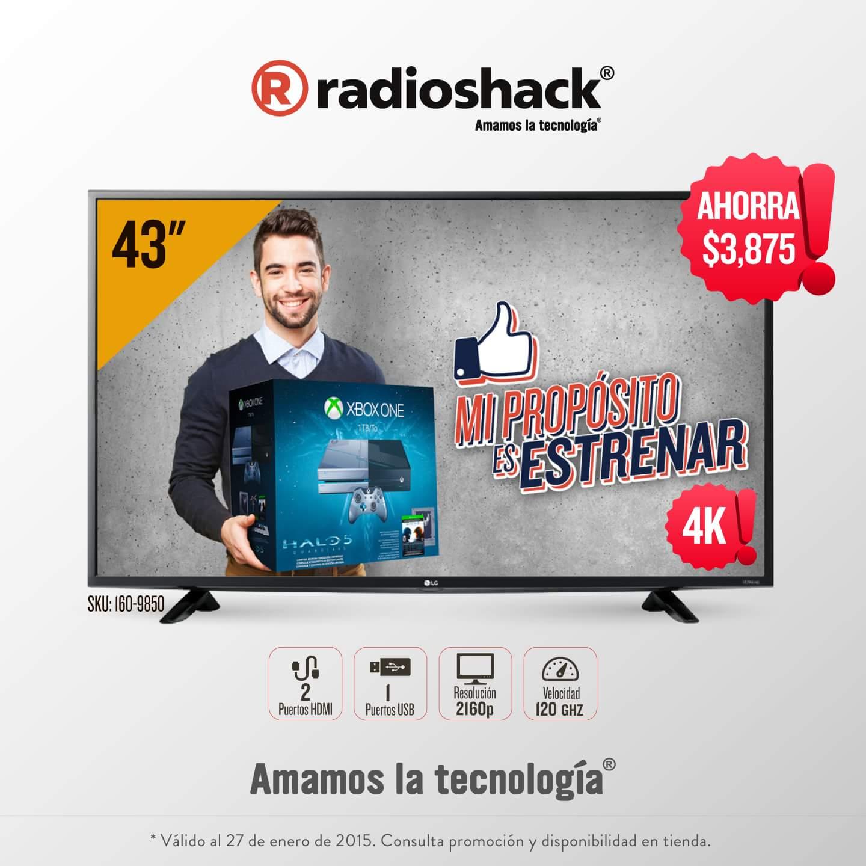 "Radioshack: Pantalla 4K Smart-Tv LG 43"" LED UHD"