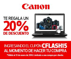 Tienda Canon: 20% de descuento con cupón