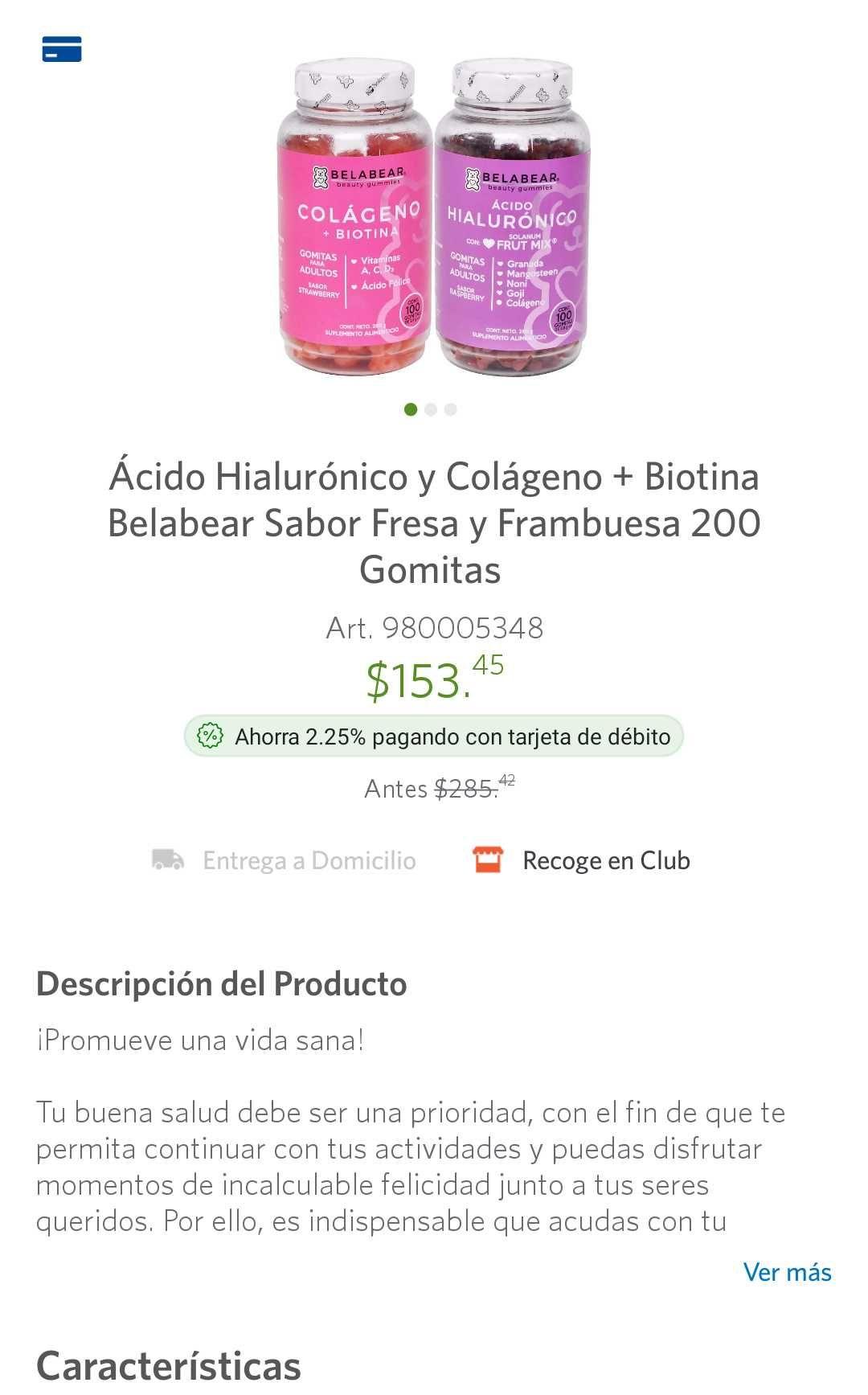 Sam's Club: gomitas belabear 2 pack de colágeno + ácido hialurónico