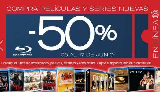 Blockbuster: 50% de descuento en películas y series en Blu-ray