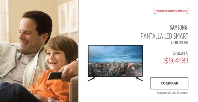 "Elektra: Pantalla Samsung Led Smart 40"" Ultra HD 120 Hz"