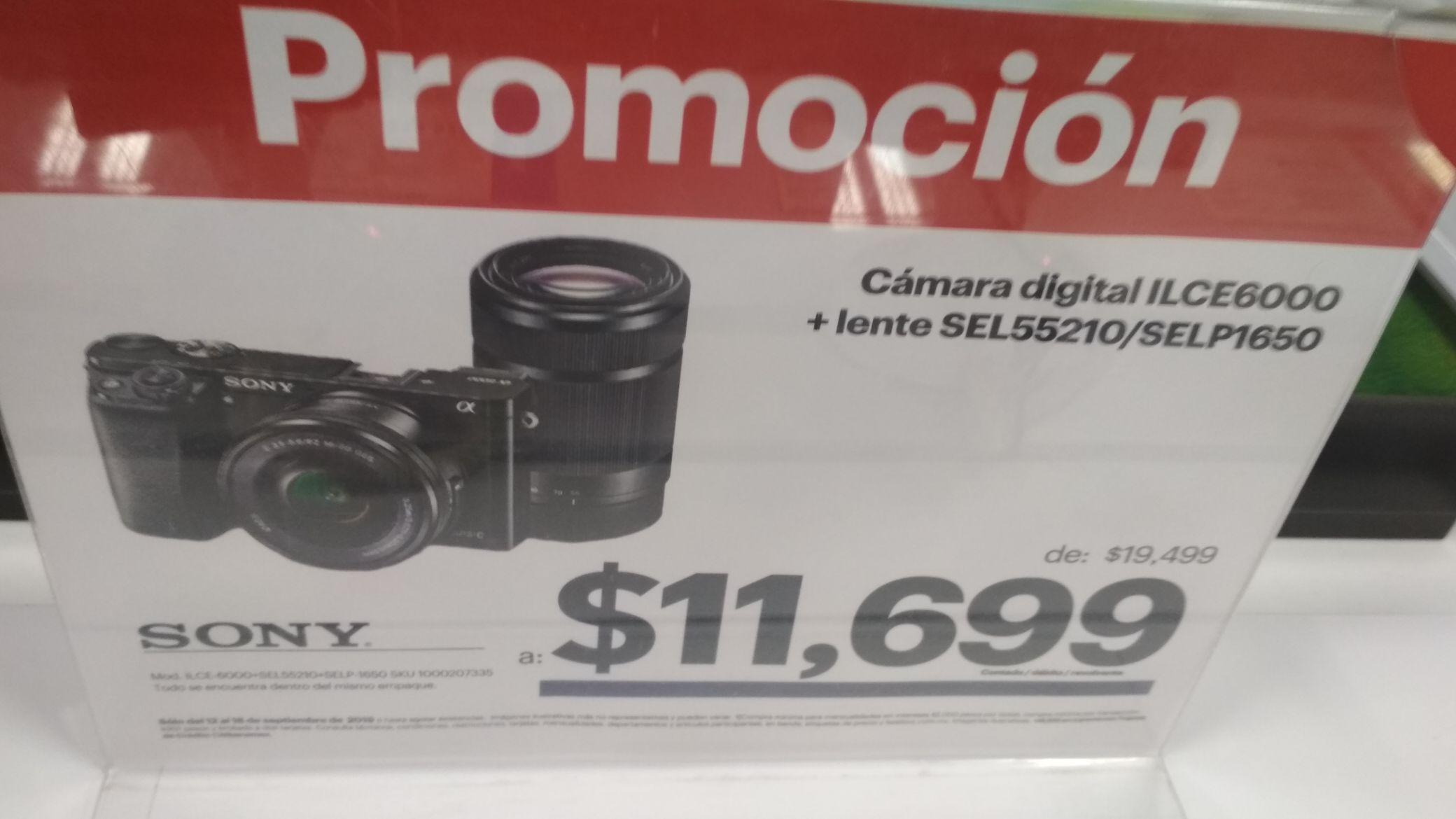 Best Buy Forum Buenavista: Cámara Sony mirrorless ILCE6000 con DOS objetivos.