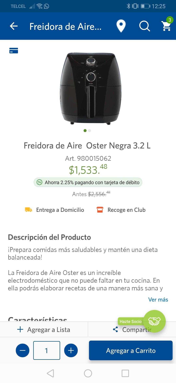 Sam's Club: Freidora Electrica Oster