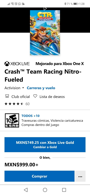 Microsoft Store Crash™ Team Racing Nitro-FueledXBOX one