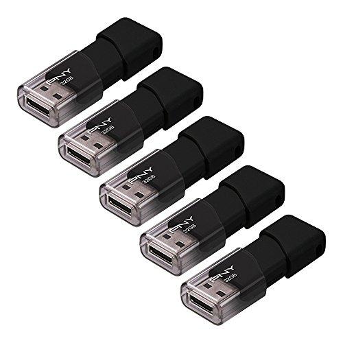Amazon Paquete de 5 de memorias USB 2.0 PNY de 32 Gb