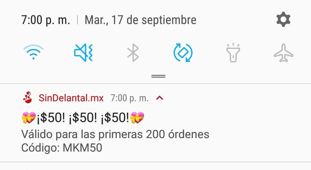 SinDelantal: Cupon descuento $50 primeros 200 usuarios