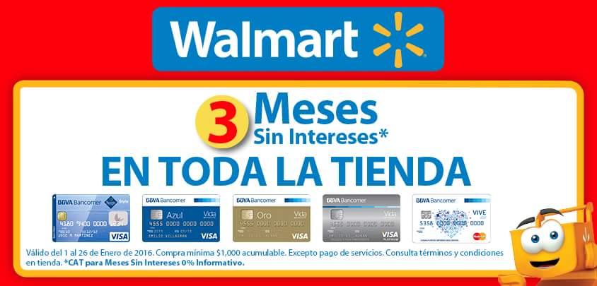 Walmart: 3 MSI en toda la tienda con TDC participantes