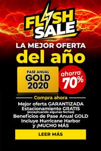 Six Flags: Pase Anual GOLD 2020 Flash Sale