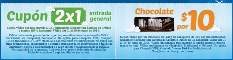 Cupones de junio para Cinépolis con Bancomer