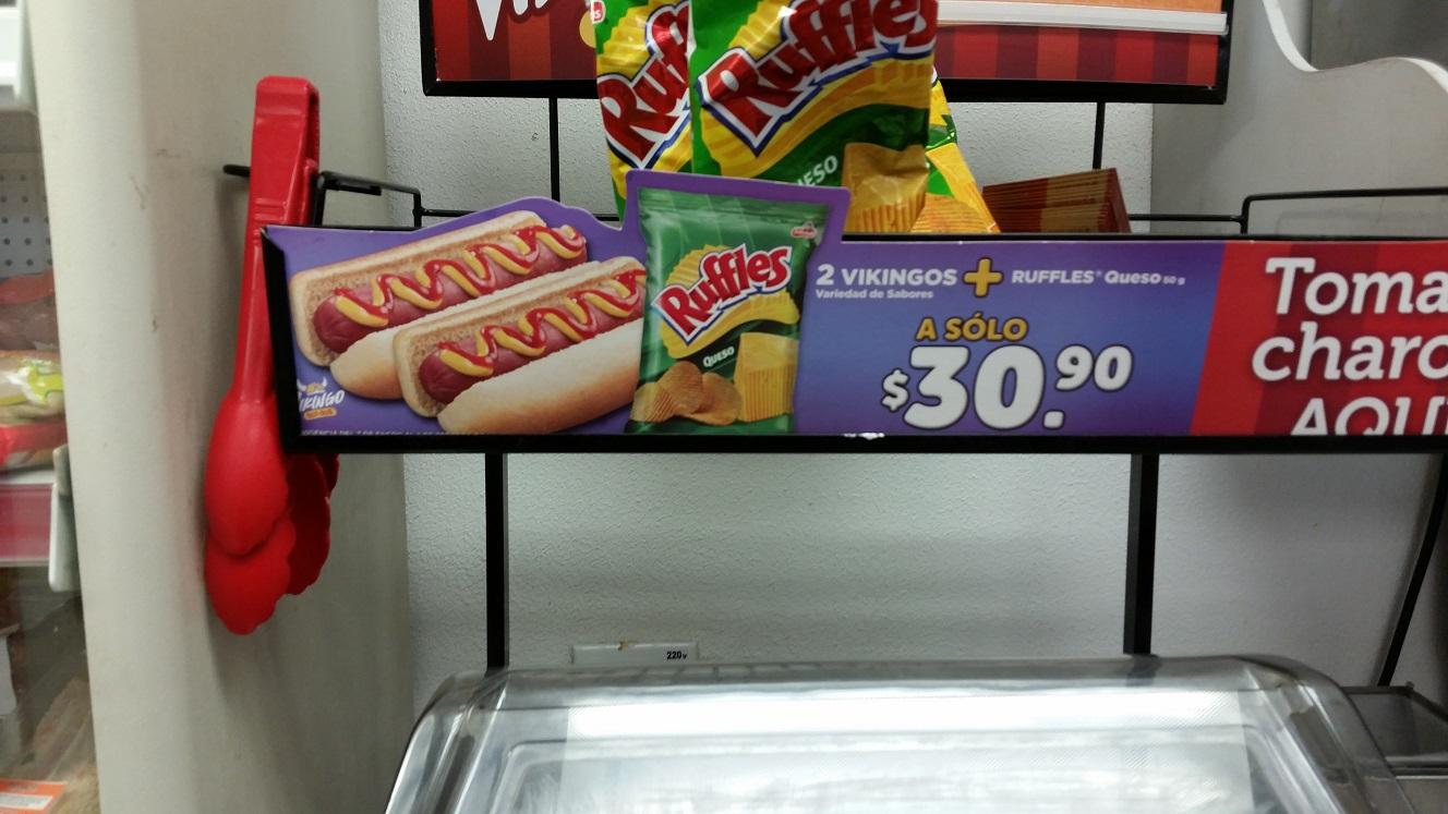 2 vikingos + Ruffles por $30.90 en Oxxo Gomez Morin (Monterrey)