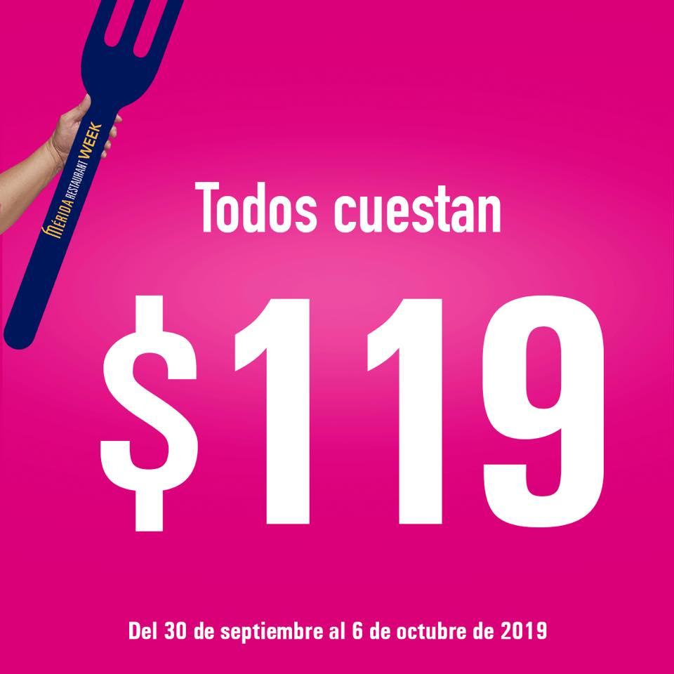 Mérida Restaurant Week 2019: Comidas completas a $119 del 30 de Septiembre al 6 de Octubre