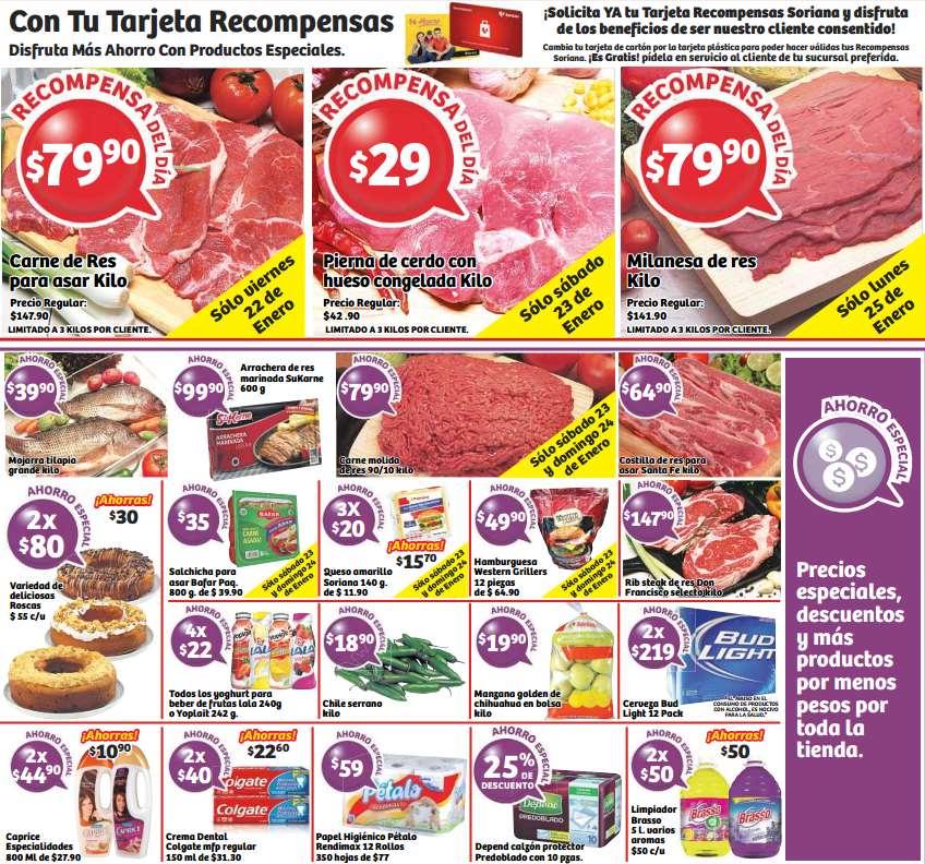 Soriana: carne para asar $80/kilo y más