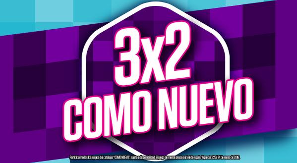 Gamers: 3x2 en videojuegos usados