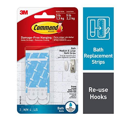 Amazon: Command BATH22-ES Tiras de Repuesto para Baño, Mediano/Grande