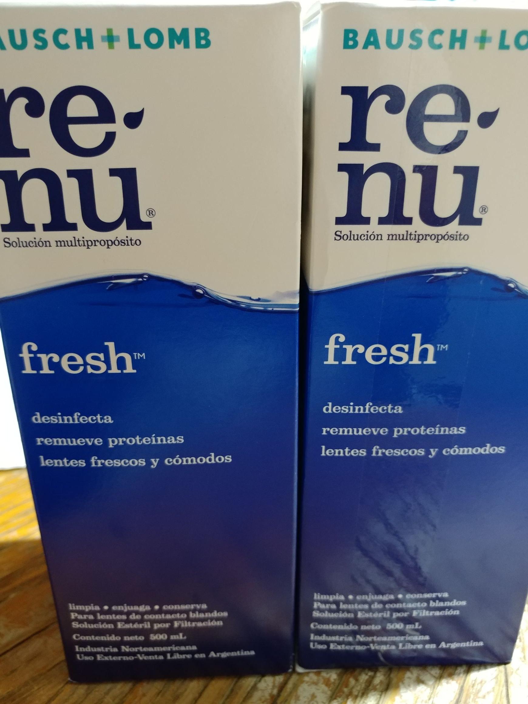 Walmart Súper: Solución para lentes de contacto Renu Fresh 500ml 2x$325