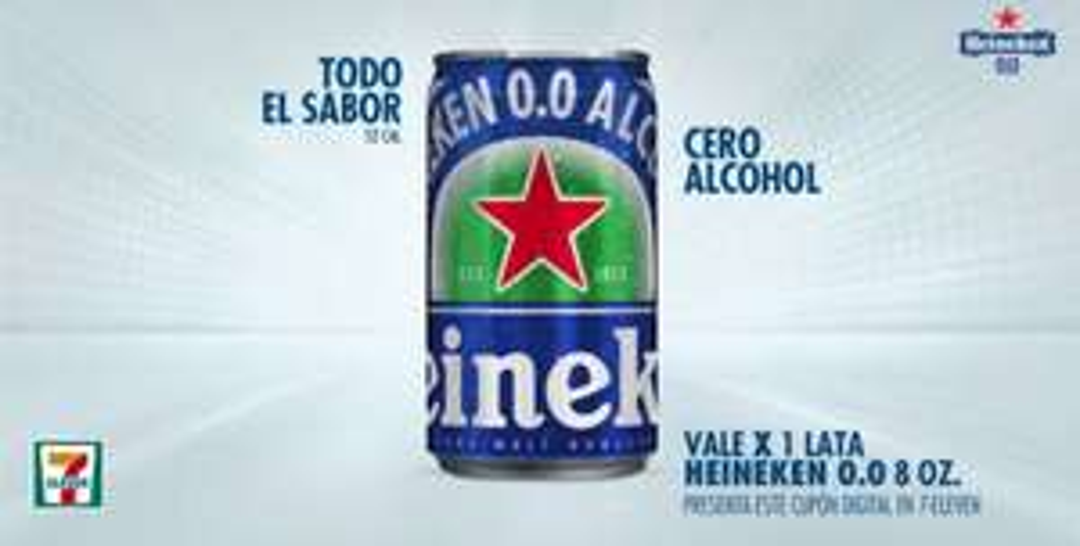 7-eleven App: Heineken 0.0 de 8oz GRATIS