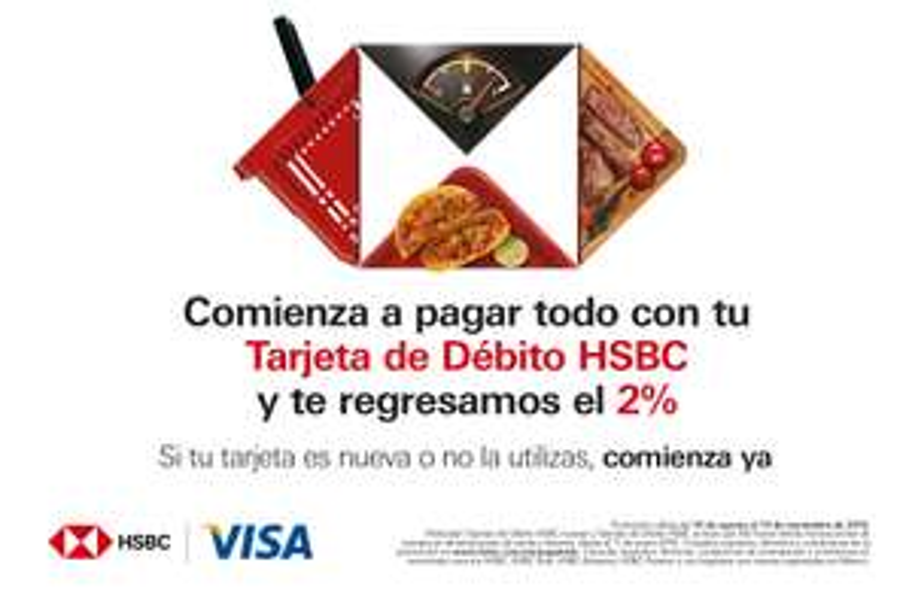 HSBC: 2% Reembolso con tarjetas de débito.