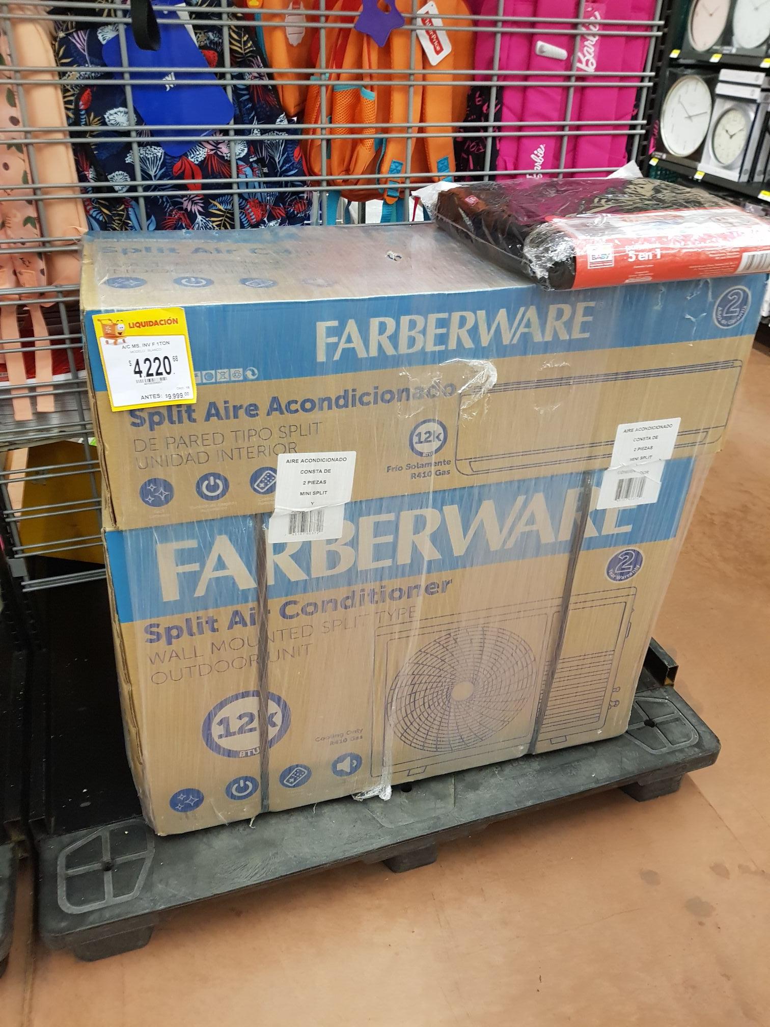 Walmart: Aire acondicionado inverter 1 tn