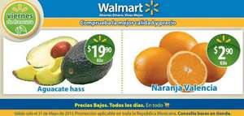 Viernes de frescura Walmart viernes de carnes Chedraui mayo 31