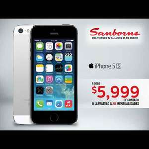 Sanborns: iPhone 5s de 16GB a $5,999