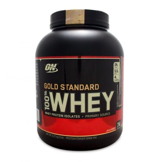 GNC: Optimum Nutrition 100% Whey Gold Standard -Chocolate 5 LB