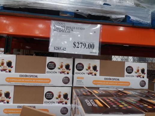 Costco: 50 cápsulas nescafe dolce  gusto Variety Pack a $279