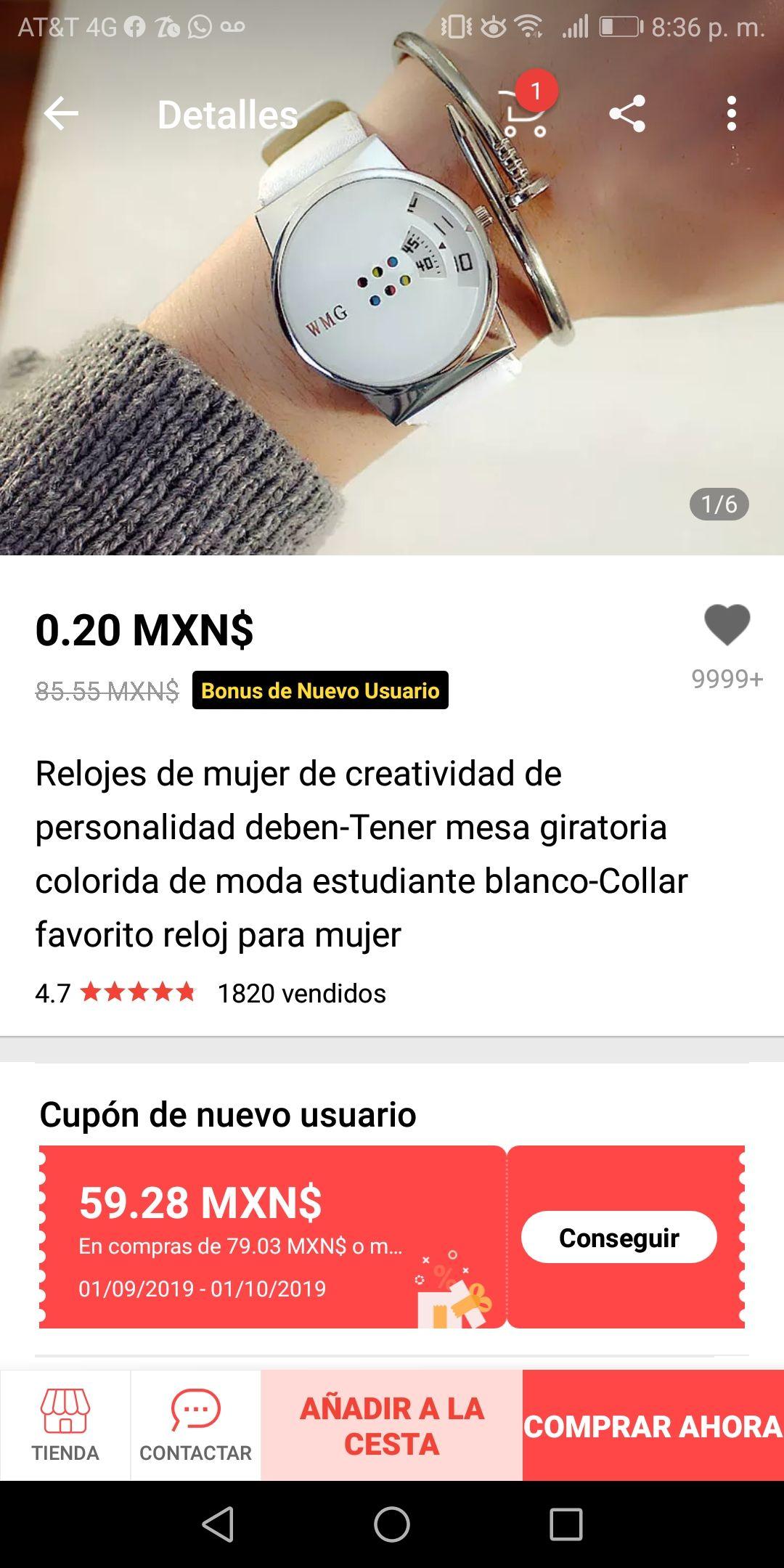 Aliexpress: Reloj de mujer casi gratis