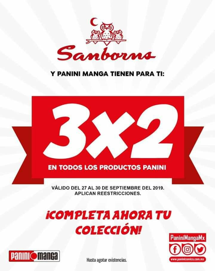 Sanborns 3x2 en Panini