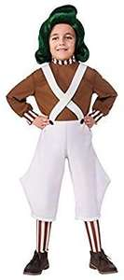 Amazon: Rubie's Disfraz para niños Willy Wonka, Blanco/Chocolate, Mediano.