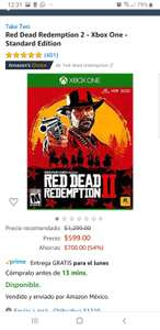 Amazon:  Red Dead Redemption 2 - Xbox One - Standard Edition