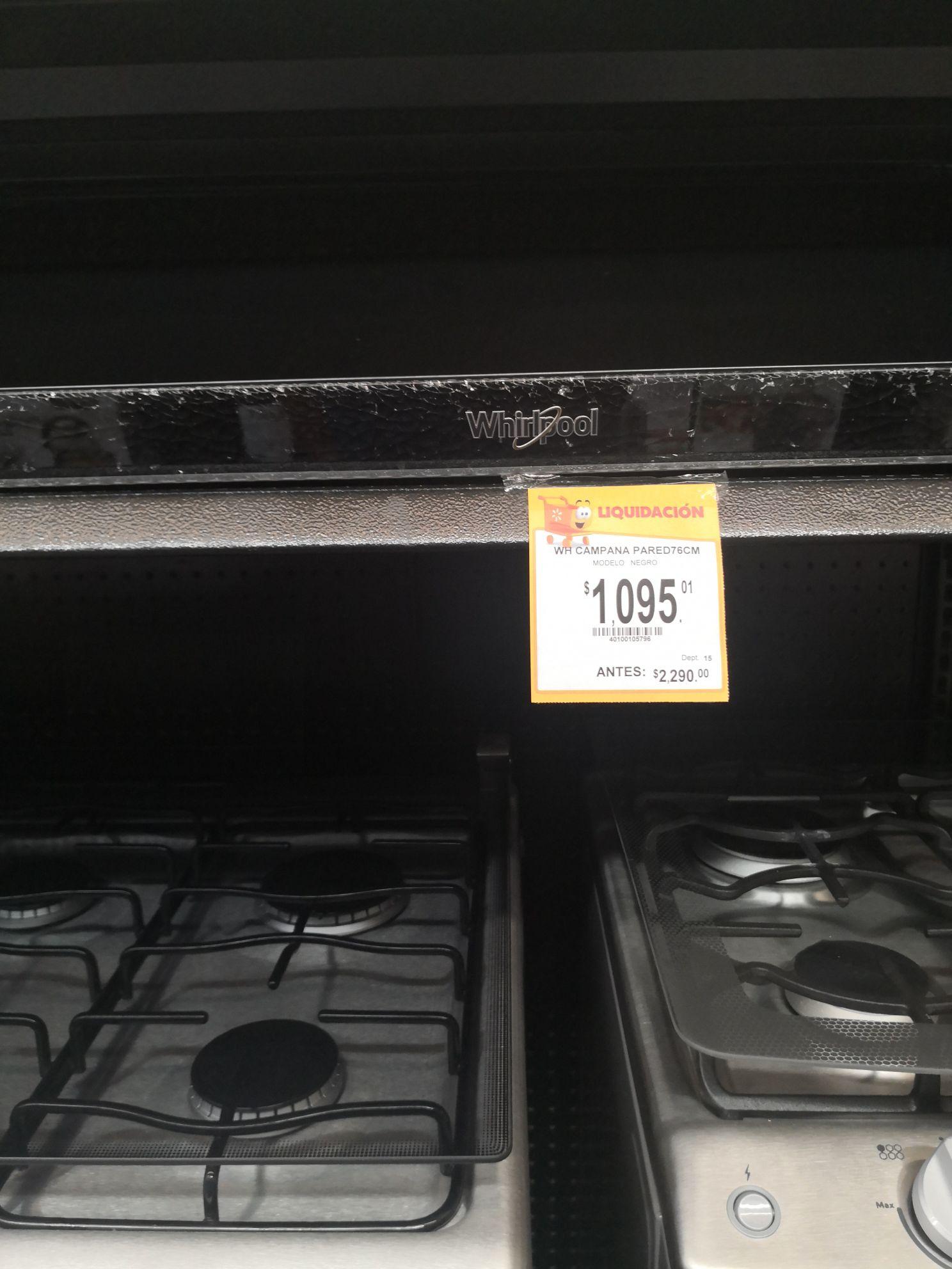 Walmart: Campanas de cocina en su última liquidación
