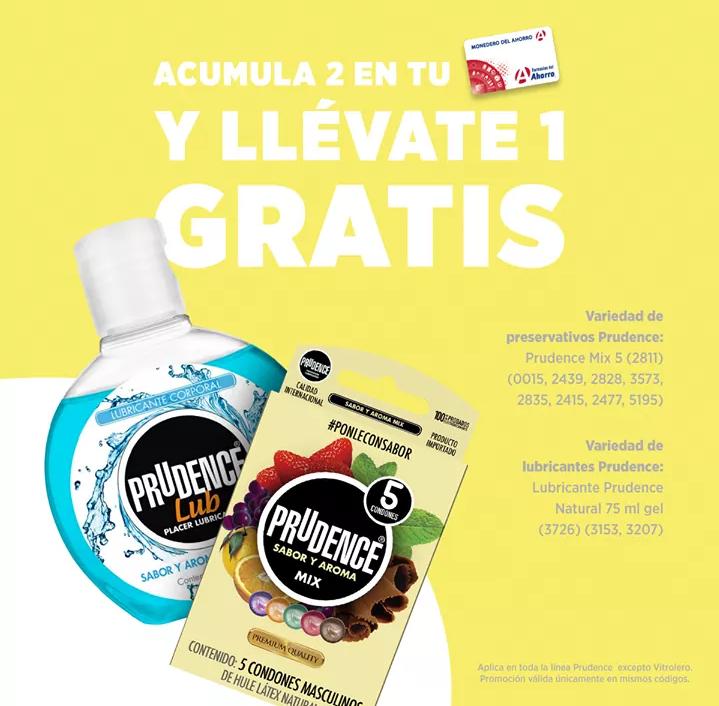 Farmacias del Ahorro: 3x2 en presevativos y lubricantes Prudence