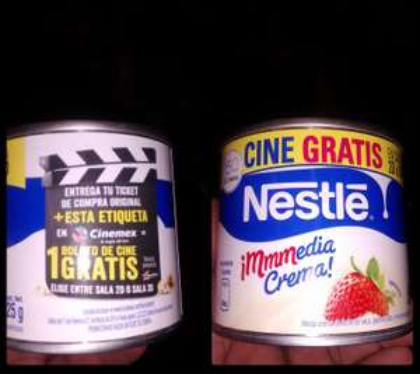 Boleto de Cinemex 2D o 3D GRATIS comprando media crema Nestle