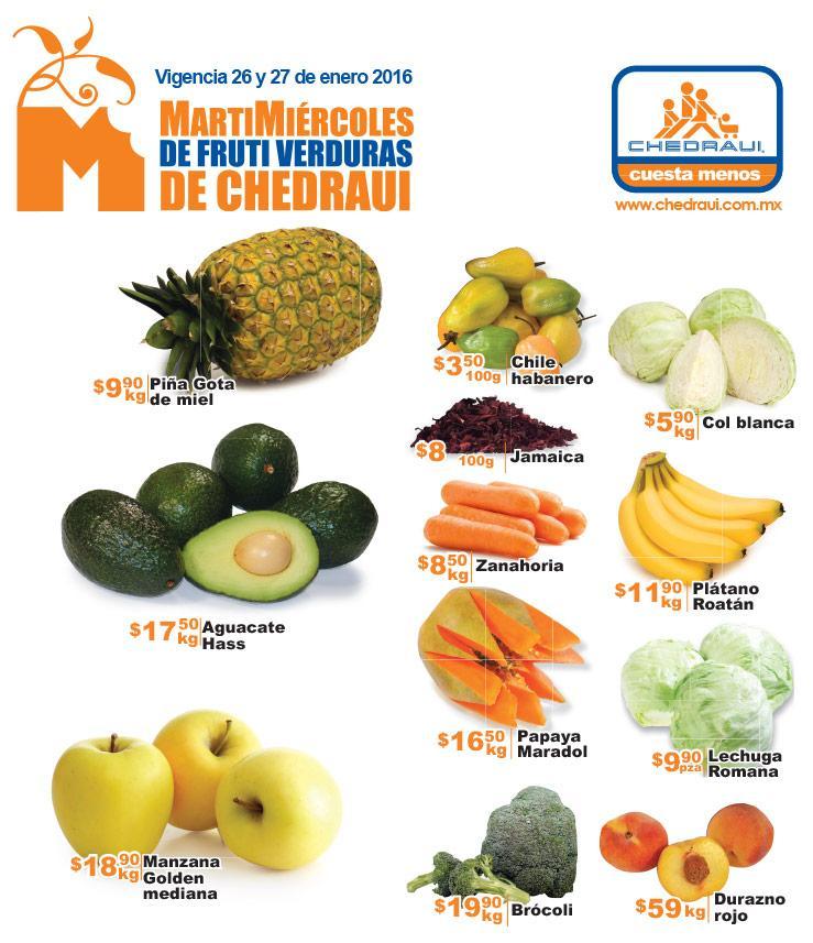 Ofertas de martimiércoles en Chedraui 26 y 27 de enero (incluye $100 x cada $1,000 con Banorte)