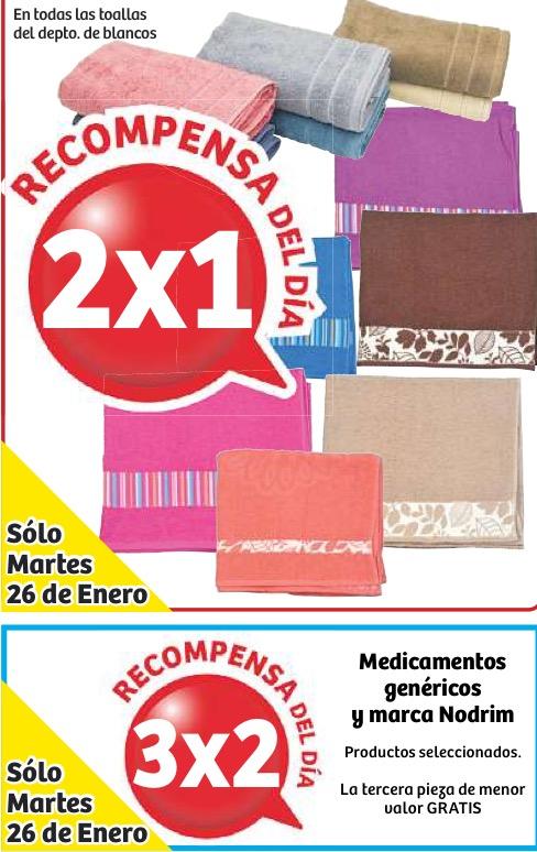 Soriana: 2x1 en toallas y 3x2 en medicinas genéricas
