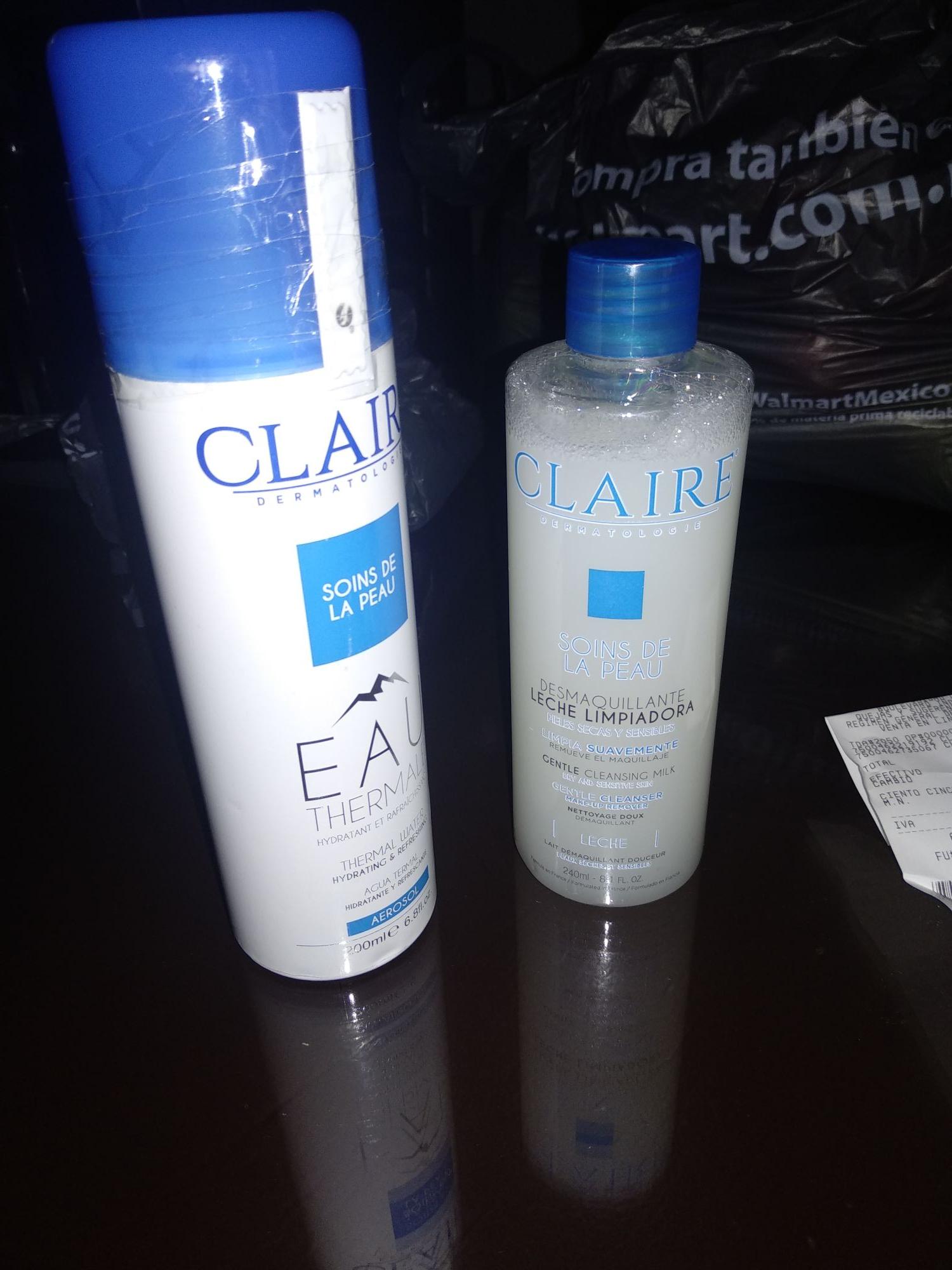Walmart: Desmaquillante y agua termal Claire