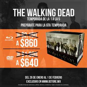 B Store: The Walking Dead con 60% de descuento 5 temporadas