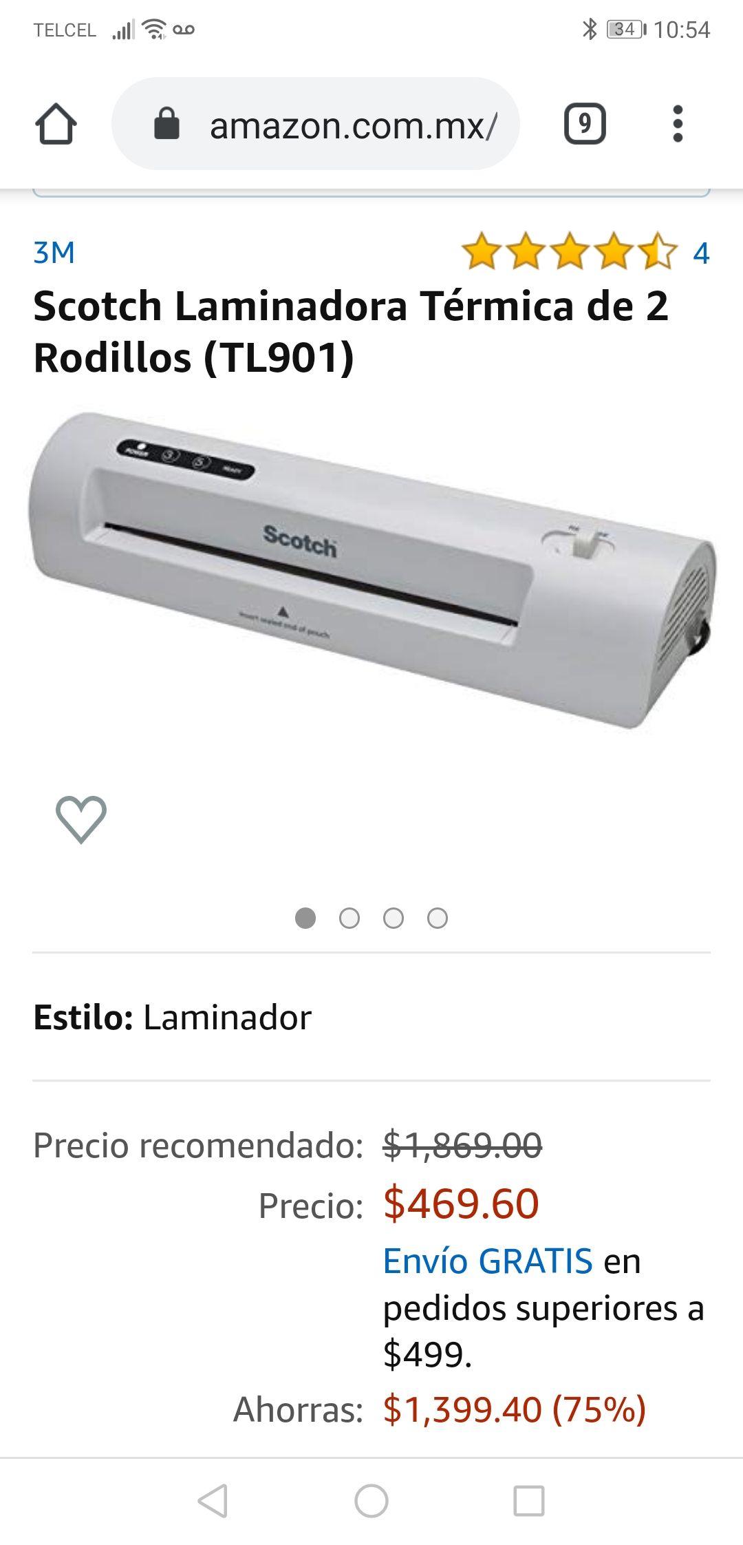 Amazon: Enmicadora/Laminadora térmica Scotch TL901C