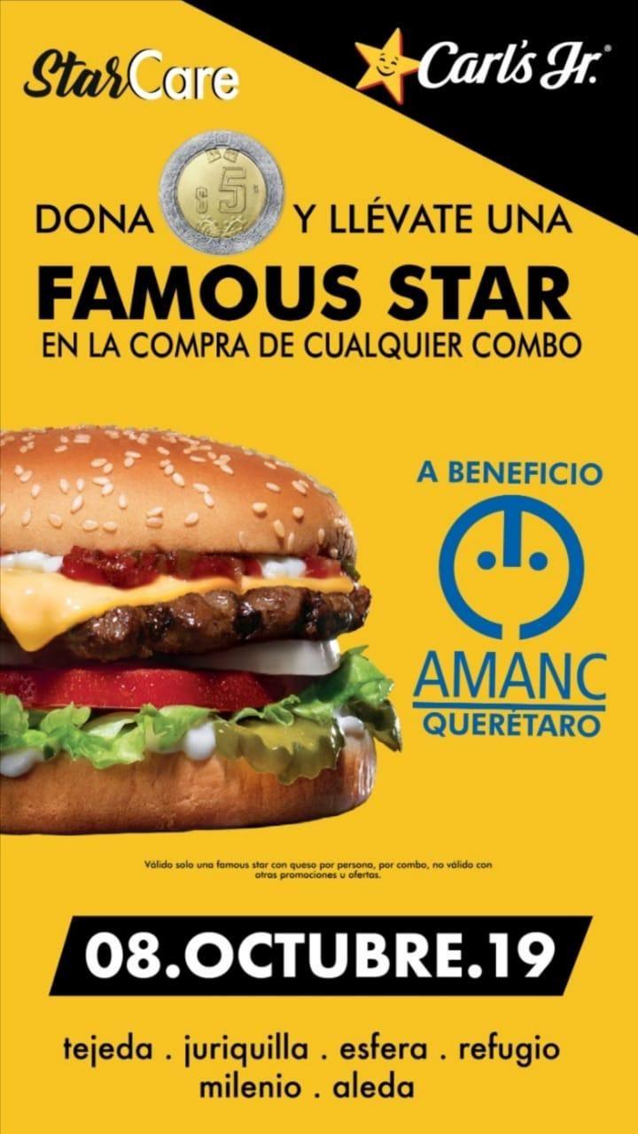 Carl's Jr Querétaro: Famous Star por 5 pesos en compra de combo