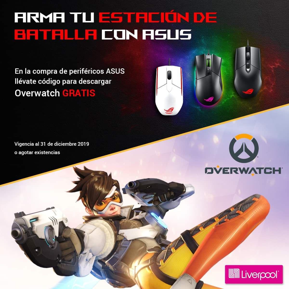 Liverpool: Overwatch GRATIS en la compra de producto ASUS