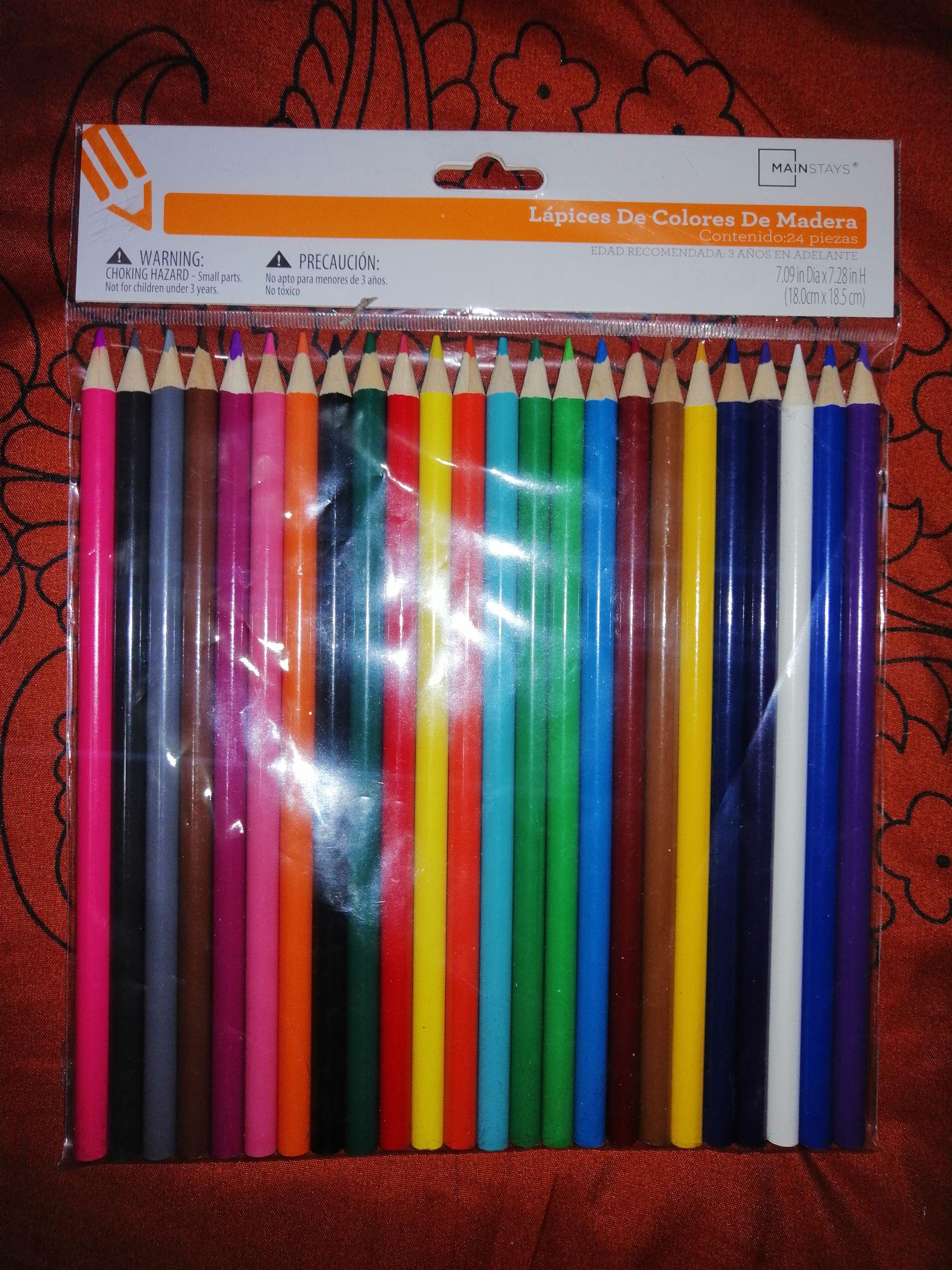 Walmart: Paquete de colores de 24 pz. marca Mainstays y Frasco de vidrio con tapa y popote