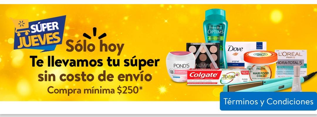 Walmart: Súper Jueves. Envío gratis en compra mínima de $250