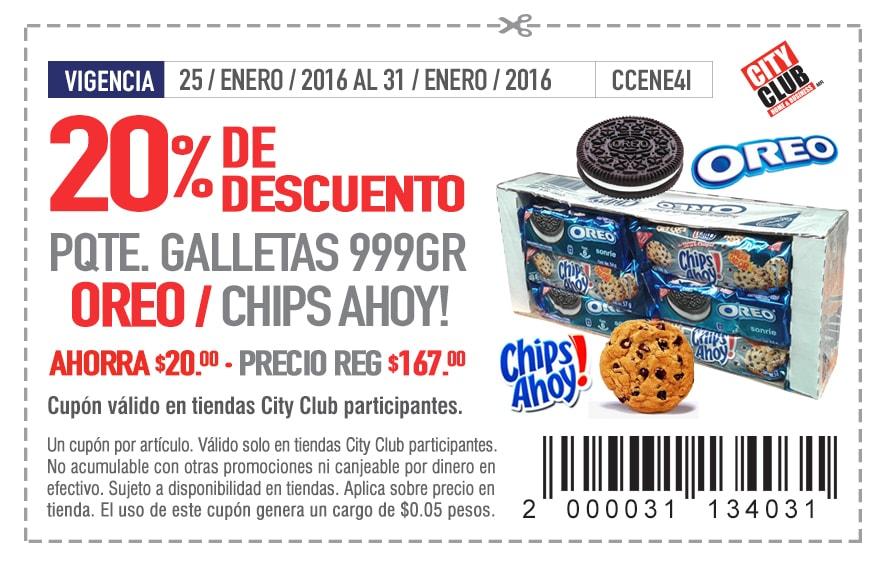 Soriticket: 20% de descuento en Galletas Oreo y Chips Ahoy Nabisco 999gr
