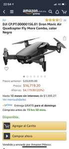 Amazon: DJI Mavic Air negro fly more combo  Amazon