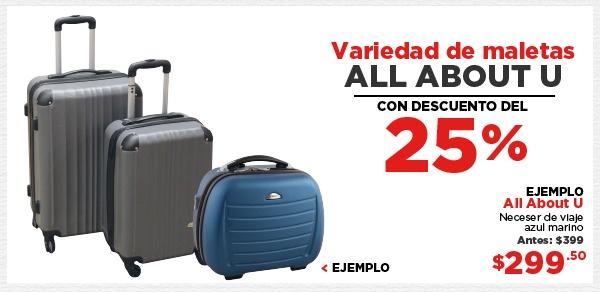 Heb: Solo hoy 25% de descuento en variedad de maletas All About y más