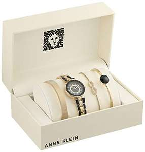 Amazon: Anne Klein Set de reloj y pulsera con cristales Swarovski