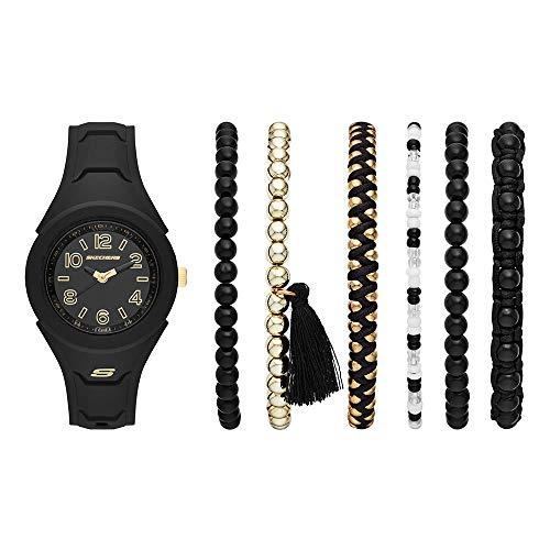 Amazon: Reloj Skeches y pulseras de regalo (Aplica Prime)
