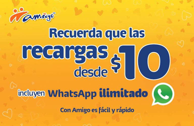 Telcel: Whatsapp ilimitado por 7 días en recargas desde $10