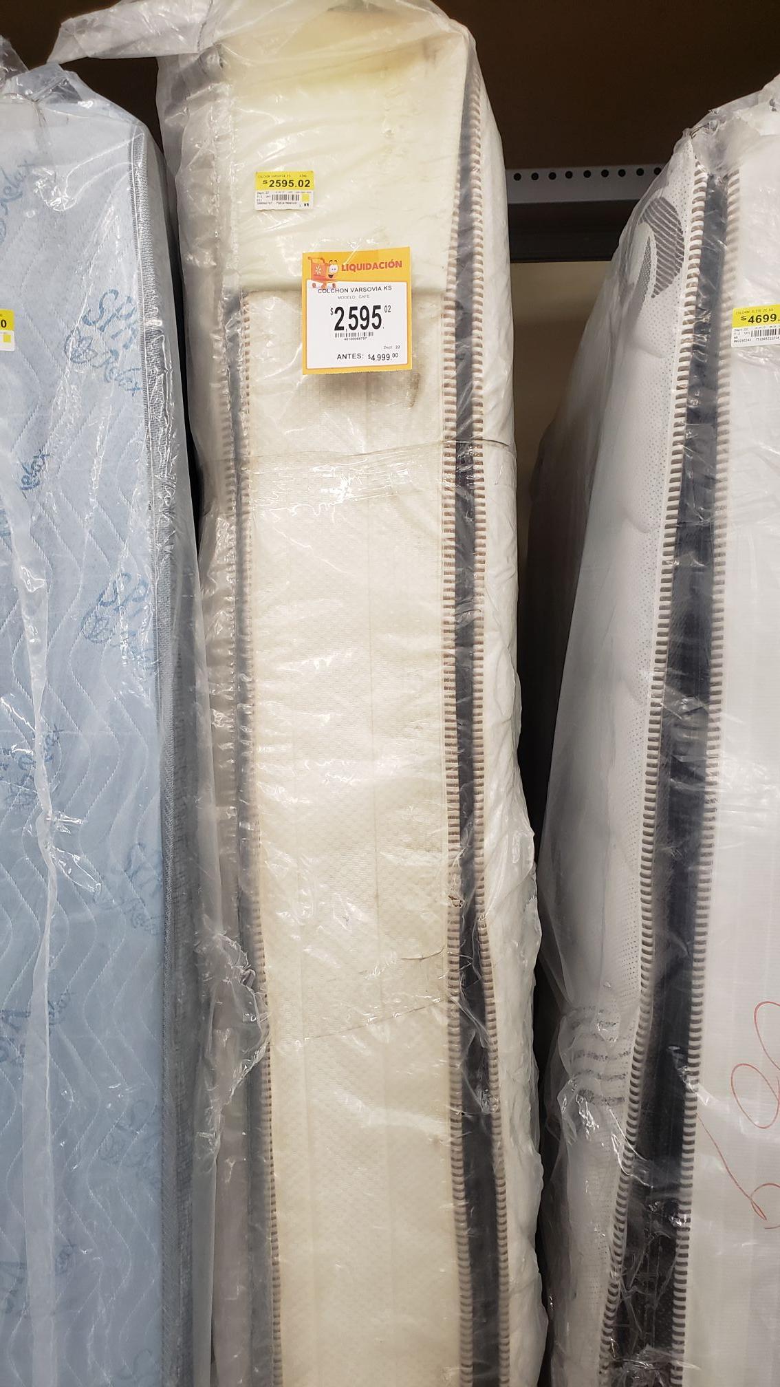 Walmart: Colchón King Size 50% de descuento