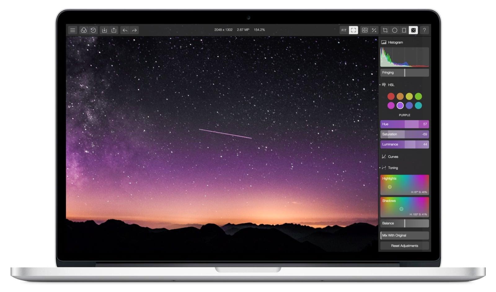 App de Edición de Fotografía POLARR PHOTO EDITOR para OS X, de $735 pesos a descarga GRATUITA por 72 horas en Apple Appstore.